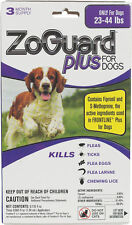 ZoGuard Plus for Dogs 23-44 Pounds 3 Month Supply Ticks Fleas