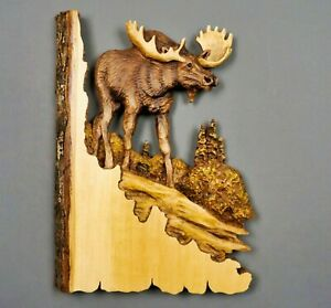 NEW Animal Carving Wall Decor Home Decorations Sculpture Wall Hanging Wooden Art