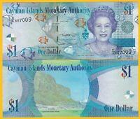 Cayman Islands 1 Dollar p-38 2018 UNC Banknote