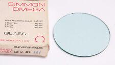 """Omega Heat Absorbing Glass 3 7/16"""" Diameter 3 1/2"""" 473-101 - NEW D25D"""