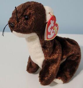 "TY Beanie Babies 7.5"" RUNNER the Ferret Plush Stuffed Animal Toy NWT"