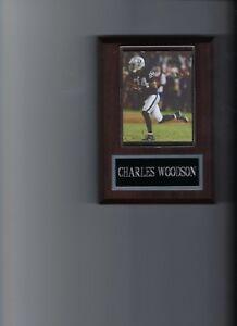 CHARLES WOODSON PLAQUE OAKLAND RAIDERS NFL FOOTBALL