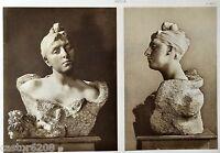 Tiefdruck Auguste Rodin Mme Morla Vicunha Bouquet De Gehörn Geweih KUNST