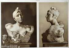 HELIOGRAVURE Auguste RODIN Mme MORLA VICUNHA Bouquet de CORNU L'ART