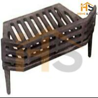"""Victorian Ww 16"""" Cast Iron Fire Grate with 4 Legs and Fuel Retainer"""