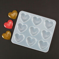 Silicone Mold Heart DIY Mirror Crystal Epoxy Resin Mold Craft Jewelry Making Kit