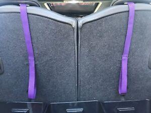 MINI COOPER  REAR SEAT CARGO AREA (PURPLE) PULL STRAPS (2)