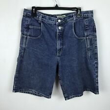 Vintage Mens Guess Jean Shorts Size 34 Blue Denim Straight Casual