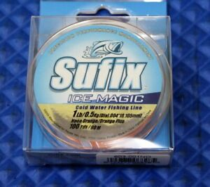 Sufix Ice Magic 100 Yds 603-NO Neon Orange CHOOSE YOUR LINE WEIGHT!