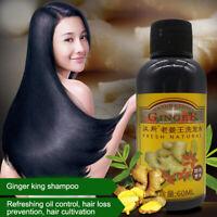 Ginger Shampoo Conditioner Help Reduce Hair Loss Fast Growth Anti Dandruff 60ML