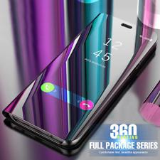 2020 Samsung Galaxy Luxury Smart View Mirror Flip Stand Case Silver Cover
