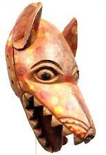 Art Africain Tribal - Masque Zoomorphe Heaume Léopard Igbo Ibo Nigéria - 34 Cms