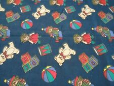 Cream Nursery Printed Cotton Fabric 115cm wide