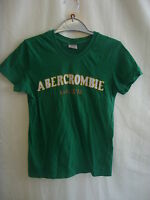 """Ladies/girls T-shirt - Abercrombie & Fitch, size XS 28"""" bust green, cotton 8124"""