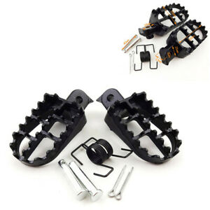 2x Lightweight CNC Machined Motorcycle Dirt Pit Bike Footrests Replaceable Teeth