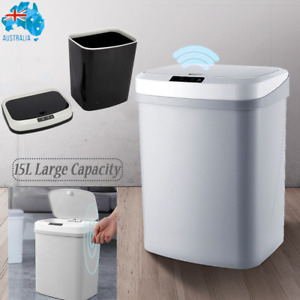 15L Intelligent Sensor Smart Trash Can Kitchen Office Bathroom Rubbish Auto Bin