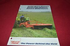 Deutz Fahr Mowers & Rakes Buyers Guide Dealer's Brochure DCPA2