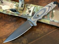 Spartan Blades Knife Harsey TT Black Blade Camo Handle MultiCam Sheath
