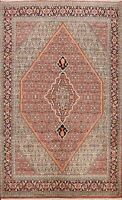 Vegetable Dye Geometric Bidjar Hand-knotted Area Rug Dining Room Oriental 7'x10'