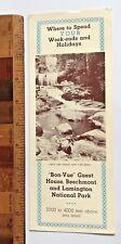 1940S BEECHMONT LAMINGTON NATIONAL PARK GOLD COAST HINTERLAND TOURIST BROCHURE!!