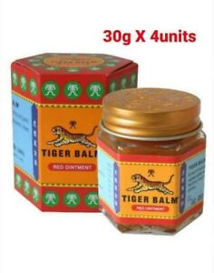 4x 30g Tiger Balm RED Ointment Relief Pain Muscle Aches Sprains