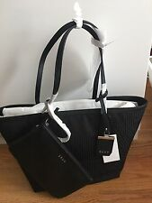 DKNY Black Canvas signature Tote Crosswalk print bag with Wallet