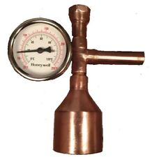 "Moonshine Still Keg 2"" Copper Column Thermometer DIY Kit Distilling Alcohol"