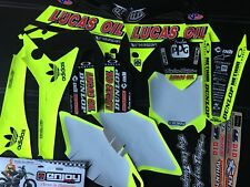 HONDA CRF250R 14-17  TROY LEE LUCAS OIL  NEON Graphic kit sticker set