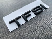 AUDI TFSI MATT BLACK BADGE LETTERING TT A1 A3 A4 A5 A6 A7 S LINE BLACK EDITION