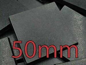 50mm Square Plain Wargaming Plastic Bases Warhammer Brand New Wargames