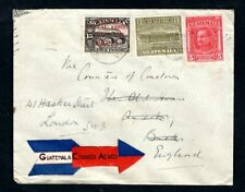 Guatemala - 1934 Airmail Cover to Aylesbury, Redirected to London