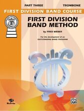 First Division Band Method Book Part 3 Trombone
