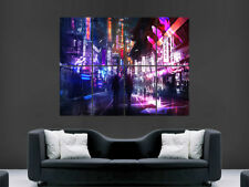 NEON SHOP LIGHTS POSTER  CHINA JAPAN BRIGHT LIGHTS WALL ART IMAGE CITY ASIA