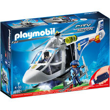 Playmobil City Action Police Helicopter with LED Searchlight 6921 NEW