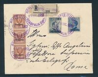 AEGEAN ISLANDS, mixed franking on R-cover with rubber stamp STAMALIA!!