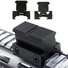 "2pcs 1"" Rail Riser / Mounts Fit 20mm Picatinny / Weaver Rails 11mm Dovetail"
