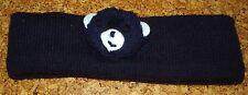 Stirnband blau mit Bär Kopfumfang ca. 34 cm