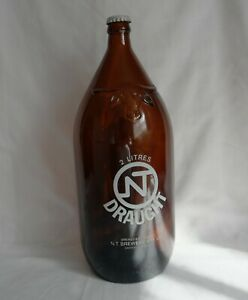 NT Draught 2 Litre Bottle with Lid - 1970's - Excellent Condition - Barware