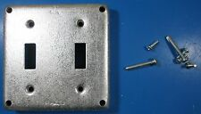 """Raco 4"""" Square Cover For 2 Toggle Switch 803 U.S.A"""