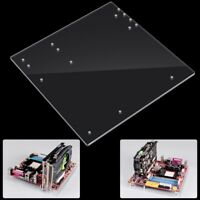 Open Frame Transparent Acrylic Overlock PC Case DIY Base For M-ATX Motherboard