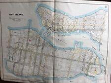 1902 Mack & Cameron Plat Atlas Map BRONX NY EDENWALD CITY ISLAND, REPRODUCTION
