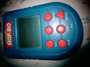 Electronic Skip-Bo Handheld Game 2002 Mattel Blue needs batteries