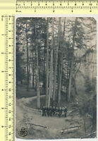 #061 Guys in Forest Men Abstract Portrait from Distance vintage photo original