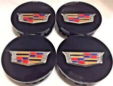 4Pcs, Wheel Center Hub Cap, Cadillac Black's Color Crest, 66 MM, 9597375, #1