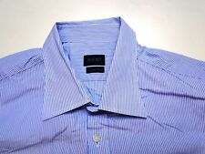 Joop Two Ply Herren Hemd Langarm Hell Blau Gestreift KW43 TOP!