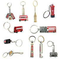 UK London England Keyrings Iron Keychains 10pcs Set Souvenir Gift Collectable