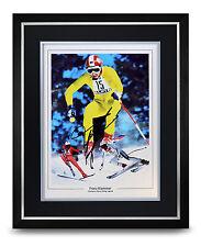 Franz Klammer Signed Photo Large Framed Display Skiing Autograph Memorabilia COA