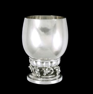 Georg Jensen. Sterling Silver Grape Cup #296A. 1945-51 Hallmarks.