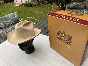 Vintage Stetson 1970s Stetson Open Road 3X Beaver Taupe 7+ Trolley String