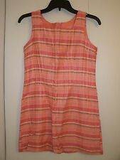 GIRL'S DRESS SIZE 14 PINK WHITE SILVER BLACK PLAID BY AMY BYER - NEW WITH TAG!